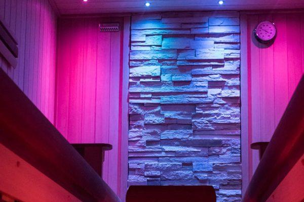 Eclairage Led pour sauna privé 59 62