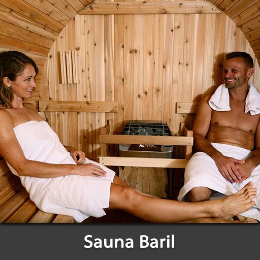 Sauna Baril Saunas tonneau extérieur