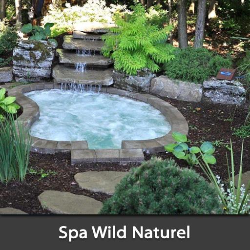 Spa naturel Wild intégré dans la roche