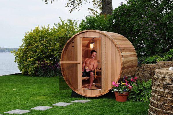 Installateur Sauna extérieur baril tonneau Lille Valenciennes Le Touquet
