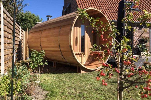 Sauna tonneau en bois Nord Pas-de-Calais