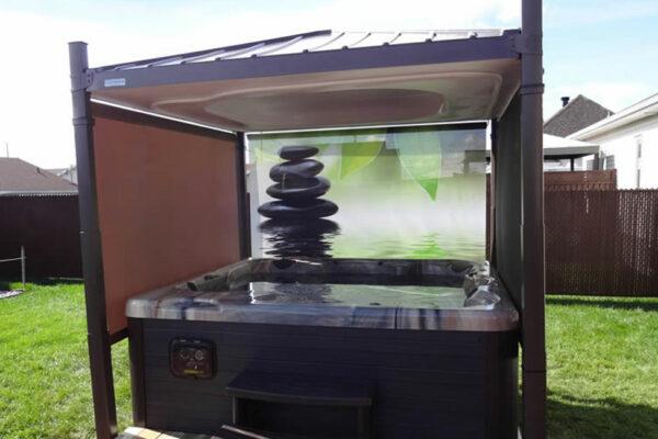 Abri automatique pour bain à bulles Nord Pas de Calais