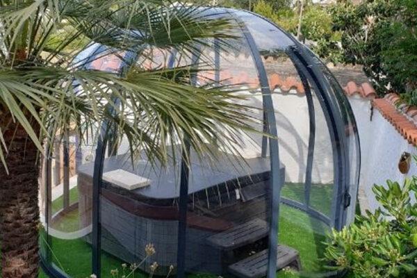Abri spa jacuzzis coulissable sous toiture Arras Lille Valenciennes Douai