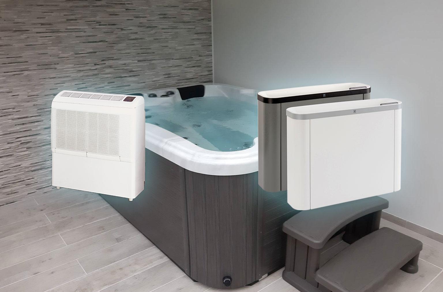 Solutions pour déshumidifier un spa intérieur