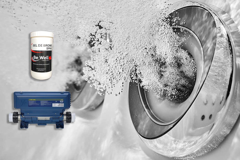 Générateur de brome automatique par électrolyse de sel pour spa