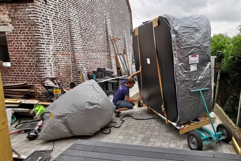 Installation spa jacuzzis sur terrasse bois en nord Pas de Calais