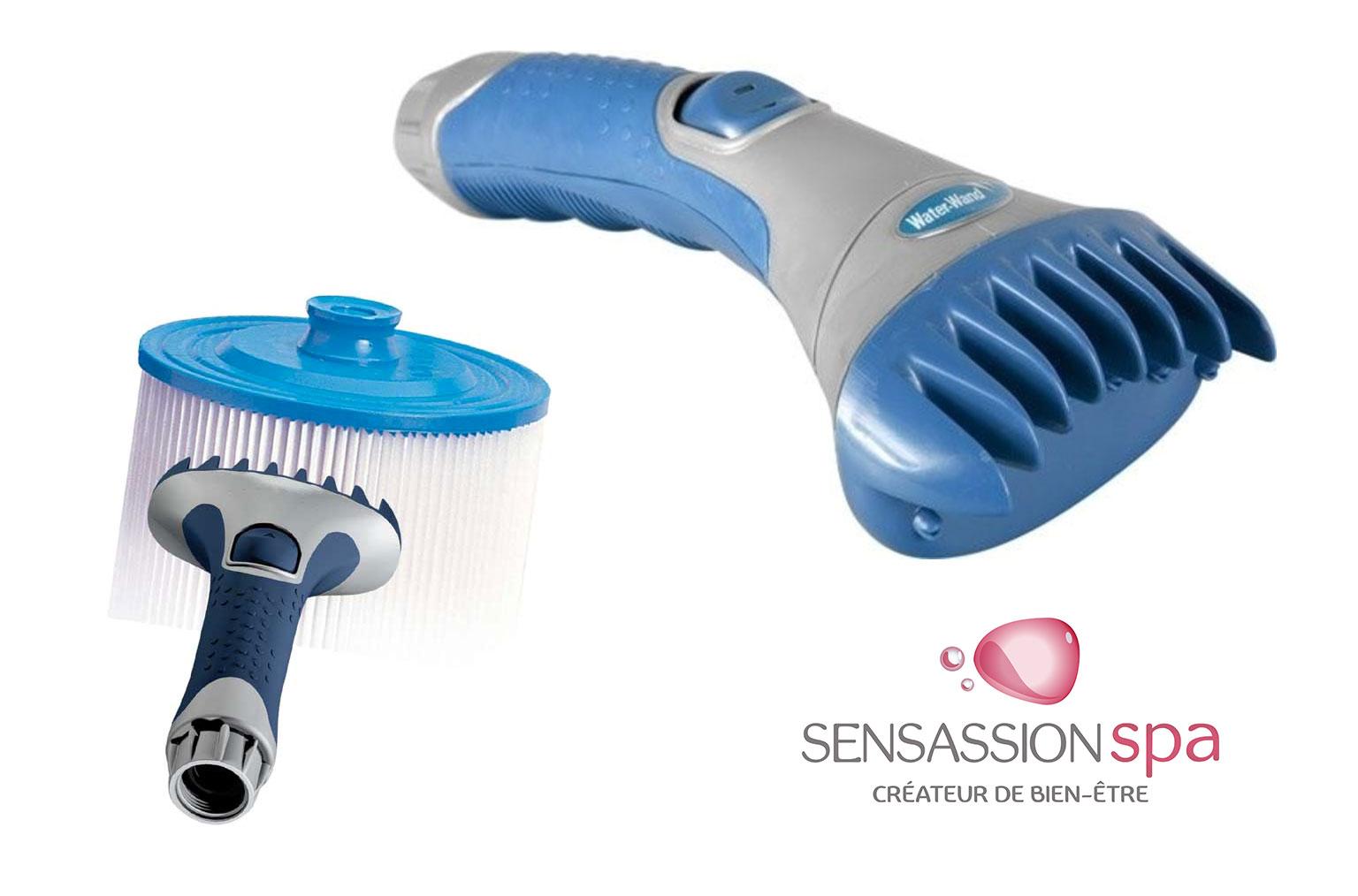 Peigne brosse nettoyage pour filtre cartouche de spa et jacuzzi